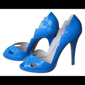 Ted Baker Royal Blue Peep Toe Heels size 8